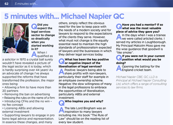 5 minutes with Michael Napier copy